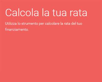 Calcola la tua rata